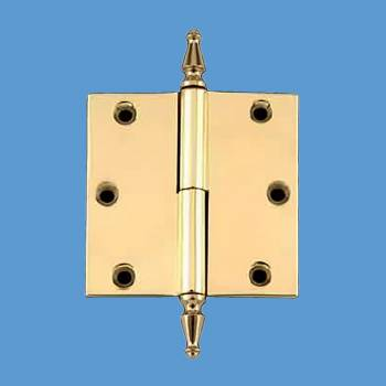 spec-<PRE>Door Cabinet Hinge Lift Off Left 3&quot; Solid Brass Spire Tip </PRE>