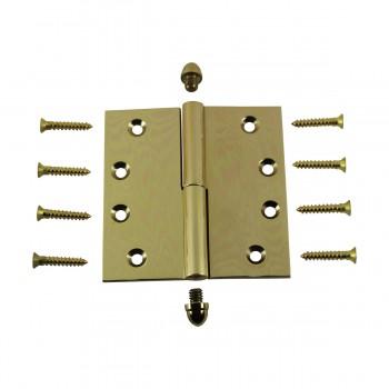 <PRE>Solid Brass Antique Lift Off Left Door Hinge 4in Helmet Tip </PRE>zoom3