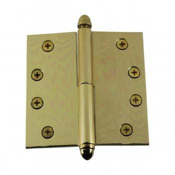<PRE>Solid Brass Antique Lift Off Left Door Hinge 4in Helmet Tip </PRE>zoom5