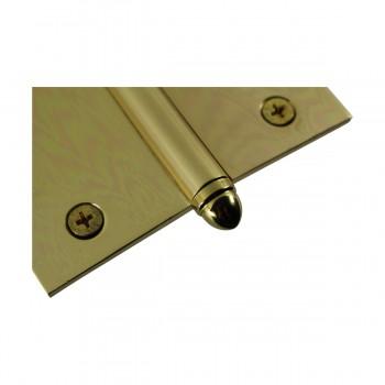 <PRE>Solid Brass Antique Lift Off Left Door Hinge 4in Helmet Tip </PRE>zoom6