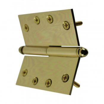 <PRE>Solid Brass Antique Lift Off Left Door Hinge 4in Helmet Tip </PRE>zoom9