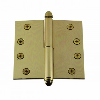 <PRE>Solid Brass Antique Lift Off Left Door Hinge 4in Helmet Tip </PRE>