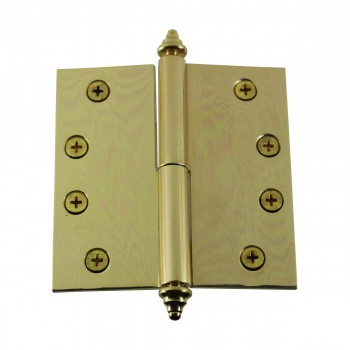<PRE>Solid Brass Antique Lift Off Left Door Hinge 4inch Decor Tip </PRE>zoom4