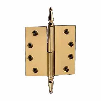 <PRE>Door Hinge Lift Off Left 4&quot; Solid Brass Spire Tip </PRE>