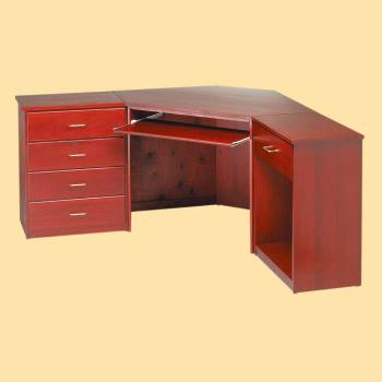 <PRE>Corner Desk Cherry Finish Poplar 30 in. H Corner Desk Unit Cherry Stai</PRE>zoom2