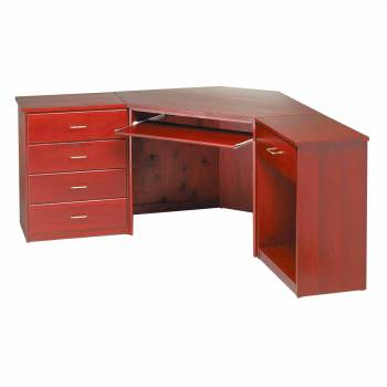 Corner Desk Cherry Finish Poplar 30 in. H Corner Desk Unit Cherry Stai148820grid
