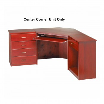spec-<PRE>Corner Desk Cherry Finish Poplar 30 in. H Corner Desk Unit Cherry Stai</PRE>