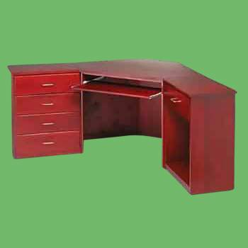 Corner Office Desk Unit 4 Drawer Cherry Stain Poplar 30 Inch Office Desk Corner Office Desk Corner Office Desk For Home