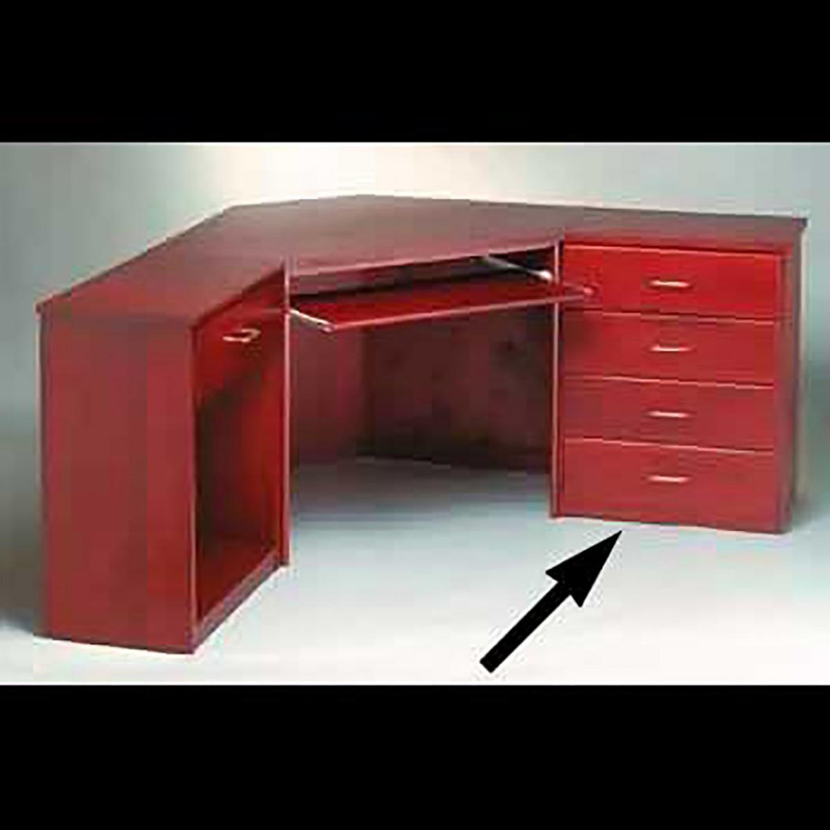 Corner Office Desk Unit 4 Drawer Cherry Stain Poplar 30 Inch Office Desk Corner Office Desk Corner Office Desk For Home