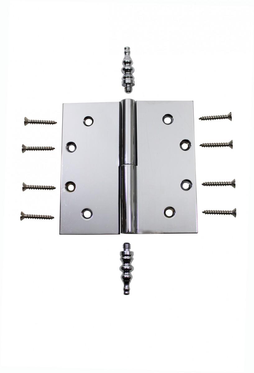 Chrome Lift Off Left Brass Door Hinge 5 Steeple Tip Door Hinges Door Hinge Solid Brass Hinge