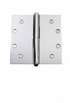 Chrome Lift Off Left Brass Door Hinge 5 Button Tip Door Hinges Door Hinge Solid Brass Hinge