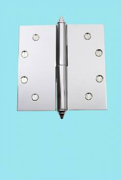 <PRE>Chrome Lift Off Left Brass Door Hinge 5inch  Decor Tip </PRE>zoom2