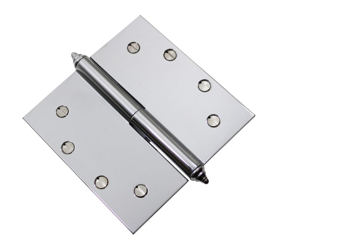 Chrome Lift Off Left Brass Door Hinge 5  Decor Tip Door Hinges Door Hinge Solid Brass Hinge