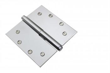 <PRE>Chrome Lift Off Left Brass Door Hinge 5inch Coin Tip </PRE>zoom3