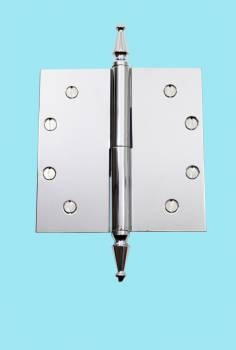 <PRE>Chrome Lift Off Left Brass Door Hinge 5inch Spire Tip </PRE>zoom2