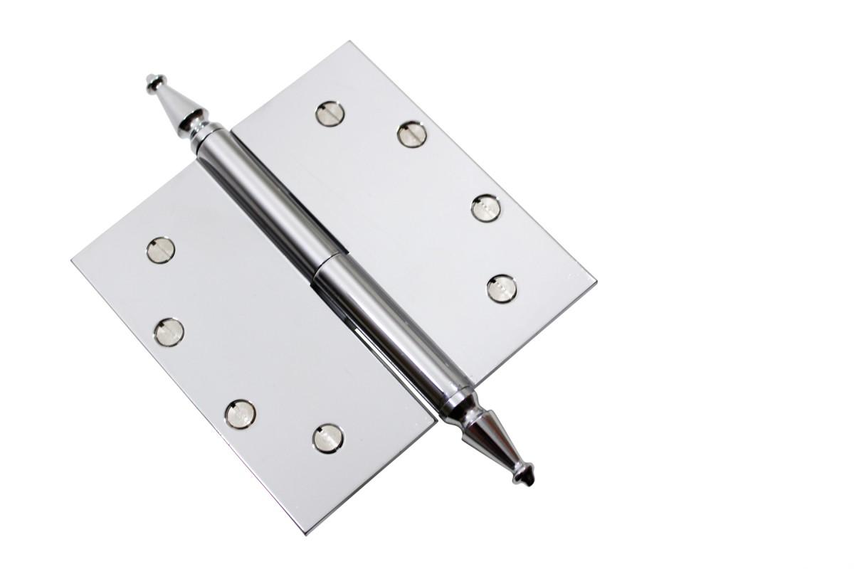 Chrome Lift Off Left Brass Door Hinge 5 Spire Tip Door Hinges Door Hinge Solid Brass Hinge
