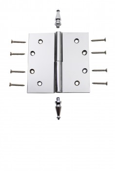 <PRE>Chrome Lift Off Left Brass Door Hinge 5inch Spire Tip </PRE>zoom4