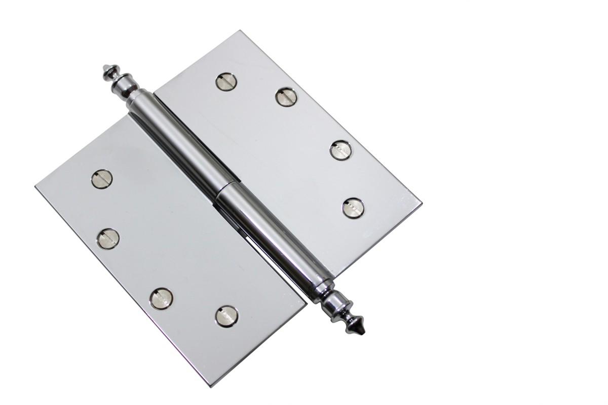 Chrome Lift Off Left Brass Door Hinge 5 Urn Tip Door Hinges Door Hinge Solid Brass Hinge