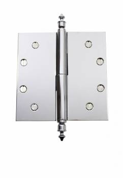 Chrome Lift Off Left Brass Door Hinge 5