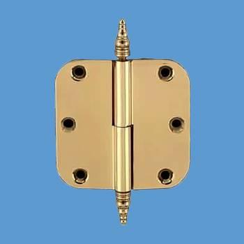 <PRE>Door Cabinet Hinge Lift Off Left 3inch Solid Brass Steeple Tip </PRE>zoom2