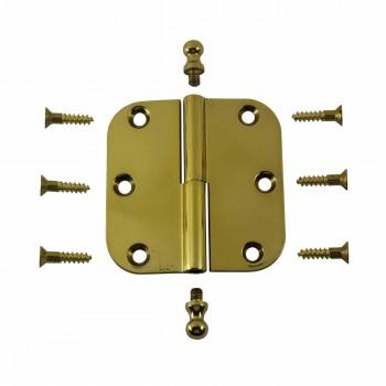 <PRE>Brass Lift Off Left Cabinet Hinge 3inch Radius Ball Tip </PRE>zoom3
