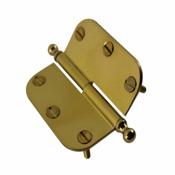 <PRE>Brass Lift Off Left Cabinet Hinge 3inch Radius Ball Tip </PRE>zoom5
