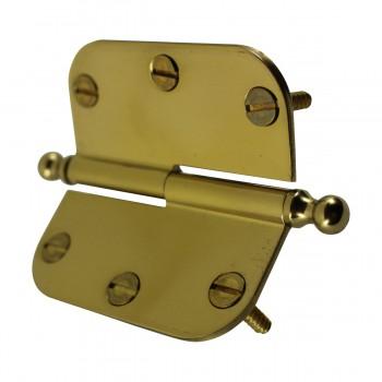 <PRE>Brass Lift Off Left Cabinet Hinge 3inch Radius Ball Tip </PRE>zoom9