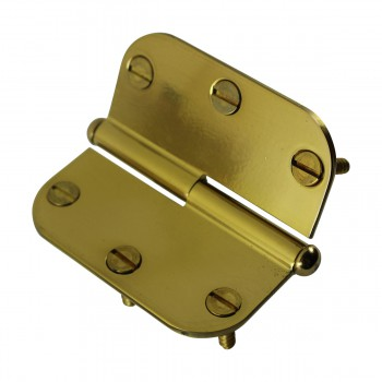 <PRE>Brass Lift Off Left Cabinet Hinge 3inch Radius Button Tip </PRE>zoom9