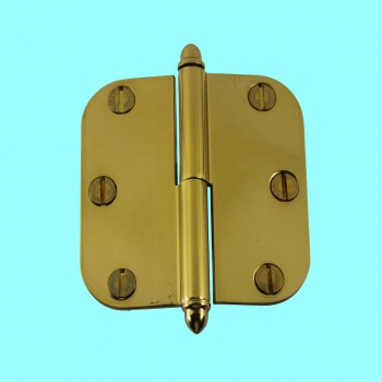 <PRE>Brass Lift Off Left Cabinet Hinge 3inch Radius Helmet Tip </PRE>zoom2