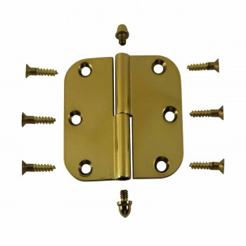 <PRE>Brass Lift Off Left Cabinet Hinge 3inch Radius Helmet Tip </PRE>zoom3