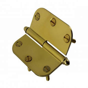 <PRE>Brass Lift Off Left Cabinet Hinge 3inch Radius Helmet Tip </PRE>zoom5