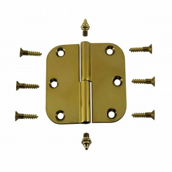 <PRE>Brass Lift Off Left Cabinet Hinge 3inch Radius Decor Tip </PRE>zoom4