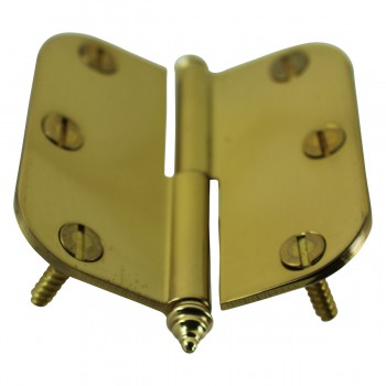 <PRE>Brass Lift Off Left Cabinet Hinge 3inch Radius Decor Tip </PRE>zoom8