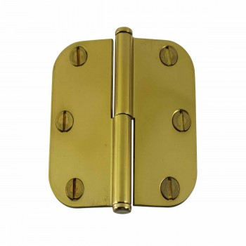 <PRE>Brass Lift Off Left Cabinet Hinge 3&quot; Radius Coin Tip </PRE>