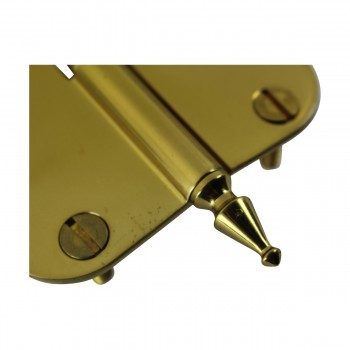 <PRE>Brass Lift Off Left Cabinet Hinge 3inch Radius Spire Tip </PRE>zoom6