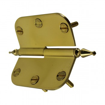 <PRE>Brass Lift Off Left Cabinet Hinge 3inch Radius Spire Tip </PRE>zoom9