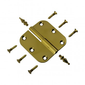 <PRE>Brass Lift Off Left Cabinet Hinge 3inch Radius Spire Tip </PRE>zoom10
