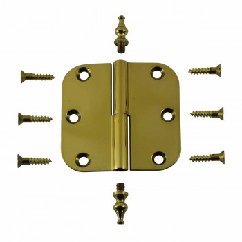 <PRE>Brass Lift Off Left Cabinet Hinge 3inch Radius Temple Tip </PRE>zoom3