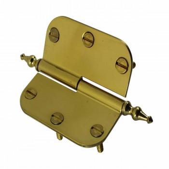 <PRE>Brass Lift Off Left Cabinet Hinge 3inch Radius Temple Tip </PRE>zoom5