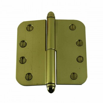 Brass Lift Off Left Door Hinge 4inch Radius Helmet Tip 14951grid