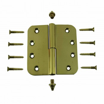 <PRE>Brass Lift Off Left Door Hinge 4inch Radius Decor Tip </PRE>zoom3