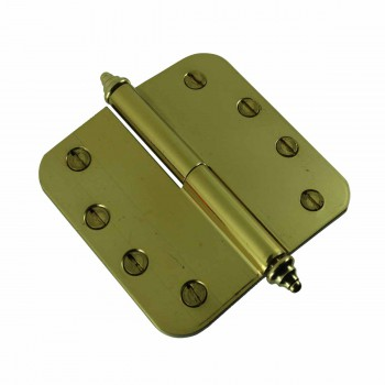 <PRE>Brass Lift Off Left Door Hinge 4inch Radius Decor Tip </PRE>zoom4