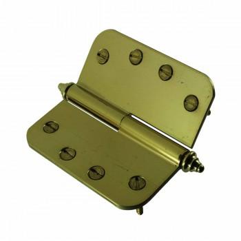 <PRE>Brass Lift Off Left Door Hinge 4&quot; Radius Decor Tip </PRE>