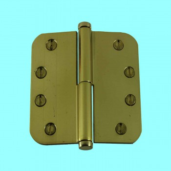 <PRE>Brass Lift Off Left Door Hinge 4inch Radius Coin Tip </PRE>zoom2
