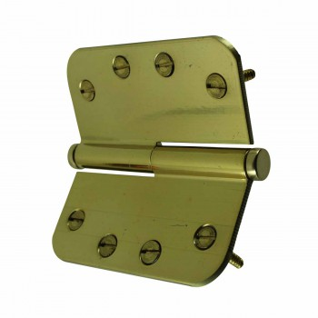 <PRE>Brass Lift Off Left Door Hinge 4inch Radius Coin Tip </PRE>zoom4