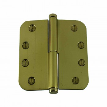 Brass Lift Off Left Door Hinge 4