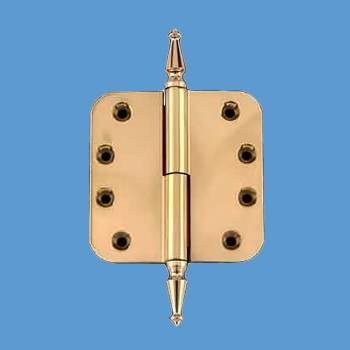 <PRE>Lift Off Left Door Hinge Brass 4inch Radius Spire Tip </PRE>zoom2