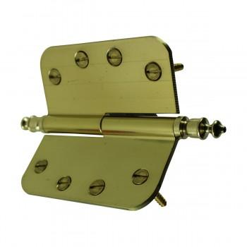 <PRE>Brass Lift Off Left Door Hinge 4inch Radius Urn Tip </PRE>zoom8