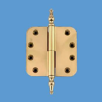 <PRE>Lift Off Left Door Hinge Brass 4inch Radius Temple Tip </PRE>zoom2