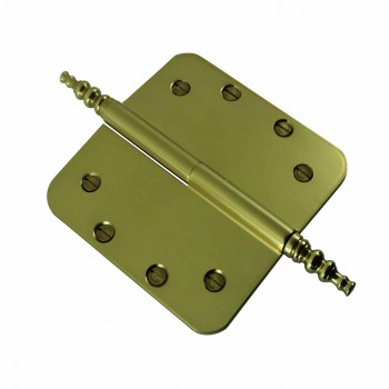 <PRE>Brass Lift Off Left Door Hinge 5inch Radius Steeple Tip </PRE>zoom4